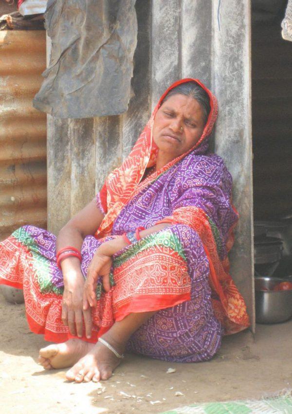 Orissa Traurige Frau